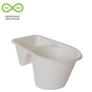 Tall Dome Lids, 100% Recycled Content Lid, Fits Sugarcane Take-Out Cup
