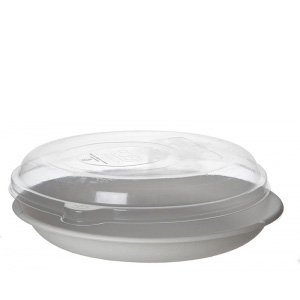 Sugarcane Take-Out Containers – 9in Round Lid